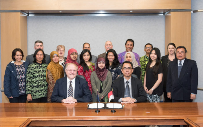 Role in Indonesian agricultural project formalised